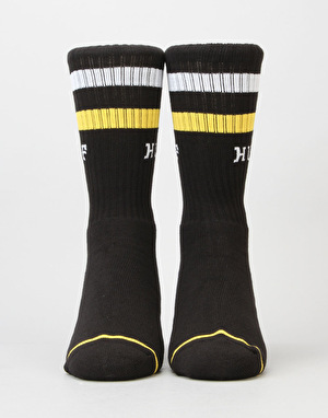 HUF 2 Stripe Crew Socks - Black