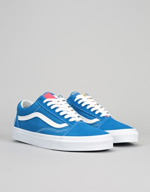 Vans Old Skool Skate Shoes - (1966) Blue/White/Red