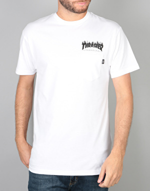 Vans x Thrasher Pocket T-Shirt - White