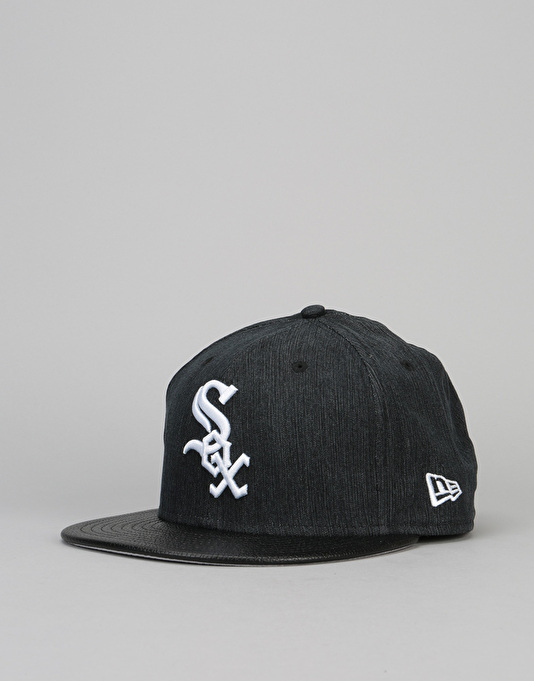 b83a3408 New Era 9Fifty MLB Chicago White Sox Flip Leather Snapback Cap - Black   New  Era Caps   Snapbacks, Fitted & Dad Hats   Accessories   Route One