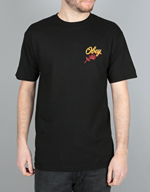 Obey Careless Whispers T-Shirt - Black