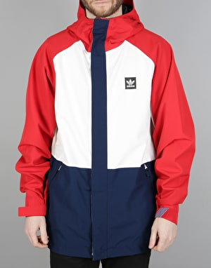Adidas Riding 2017 Snowboard Jacket - Chalk White/Scarlet/Navy