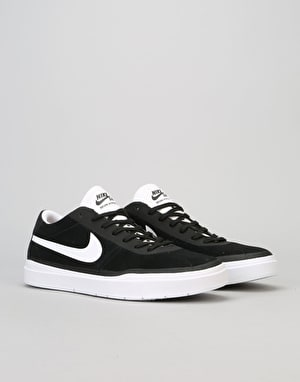 Nike SB Bruin Hyperfeel Skate Shoes - Black/White-White