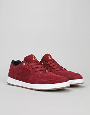 éS Accel Slim Skate Shoes - Burgundy
