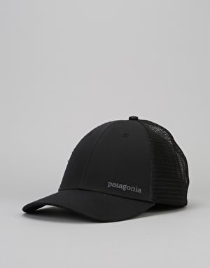 Patagonia Small Text Logo Lo Profile Trucker Cap - Black