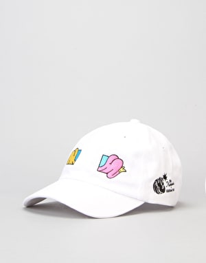 The Hundreds x Aaron Kai Buttox Strapback Cap - White