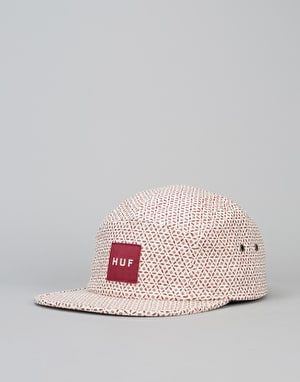 HUF Surfs Down Volley 5 Panel Cap - Off White