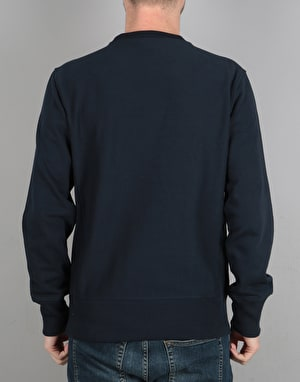 Champion Colour Block Reverse Weave Terry Crewneck - NVY