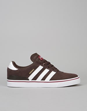 Adidas Busenitz Vulc Skate Shoes - Brown/White/Collegiate Burgundy