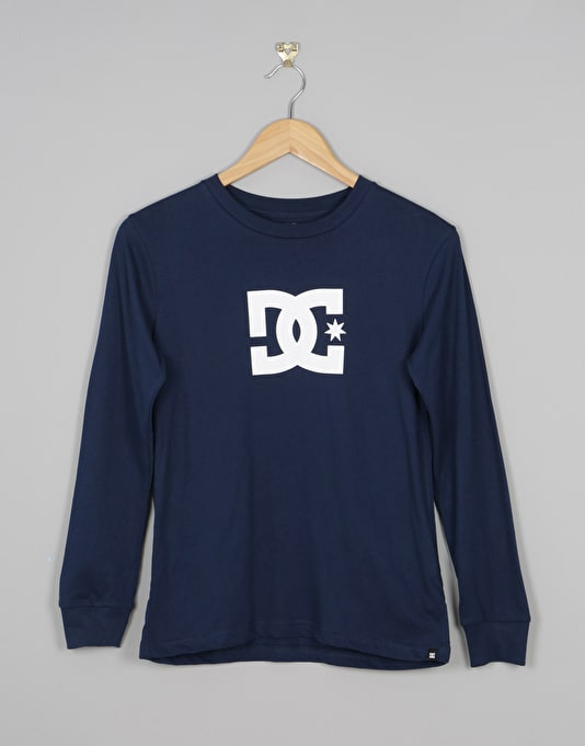 DC Star Long Sleeve Boys T-Shirt - Varsity Blue