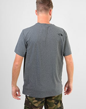 The North Face S/S Simple Dome T-Shirt - Medium Grey Heather