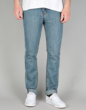 Route One Skinny Denim Jeans - Old Light Wash