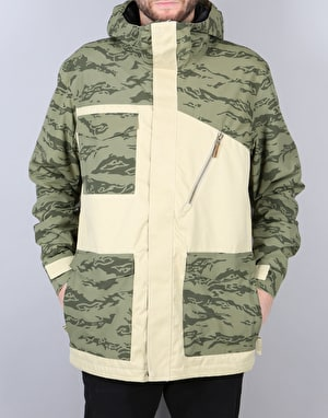 Sessions Quas 2017 Snowboard Jacket - Tan Camo