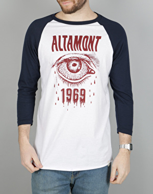Altamont Bleeding Eye Raglan T-Shirt - Navy/White