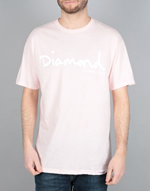 Diamond Supply Co. OG Script T-Shirt - Pink