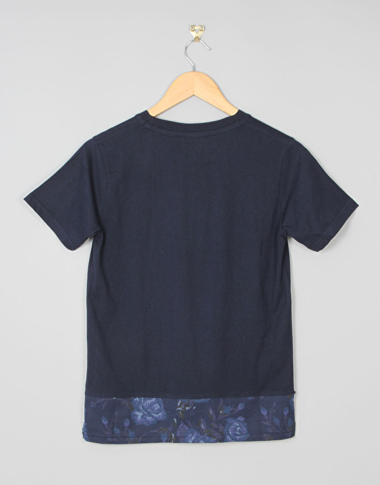 DC Woodglen Boys Pocket T-Shirt - Rose Blue Tonal