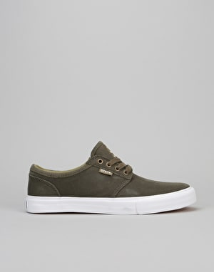 State Elgin Skate Shoes - Dark Olive Wax/Suede