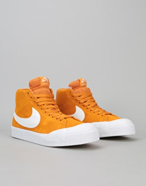 Nike SB Blazer XT Premium Skate Shoes - Circuit Orange/White-Gum