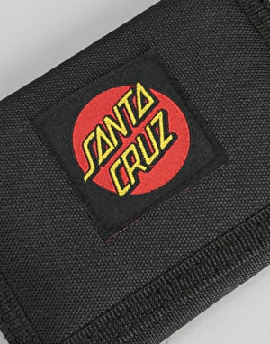 Santa Cruz Classic Dot Canvas Wallet - Black