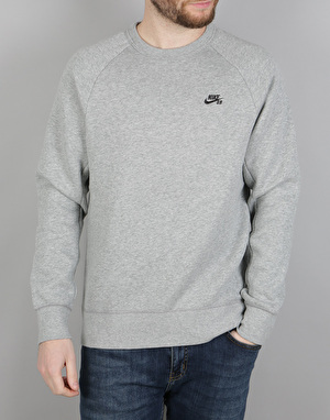 Nike SB Icon Crew Fleece - DK Grey Heather/Black