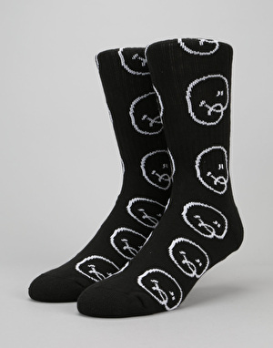 Chrystie Bubble Man Socks - Black