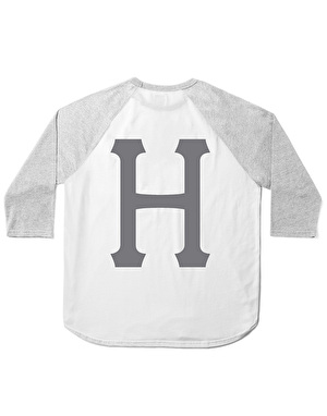 HUF Classic H Raglan T-Shirt - White/Grey Heather