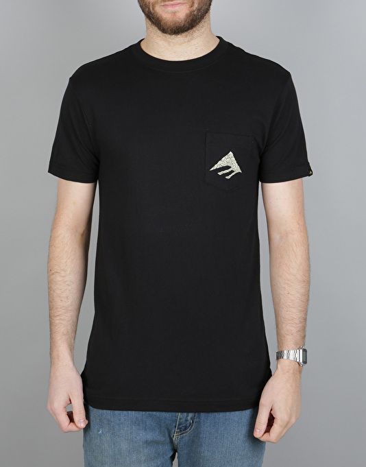 Emerica Awesome Eagle Pocket T-Shirt - Black
