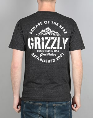 Grizzly All Terrain T-Shirt - Black Tri-Blend