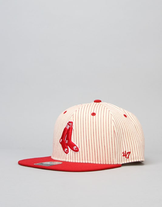 '47 Brand MLB Boston Red Sox Woodside Captain Snapback Cap - Red