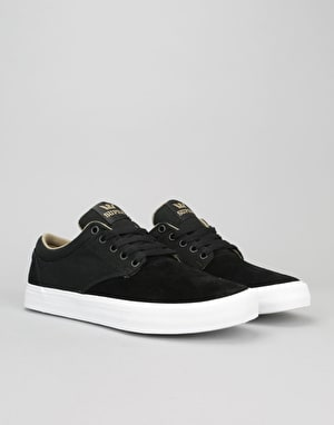 Supra Chino Skate Shoes - Black/Khaki/White