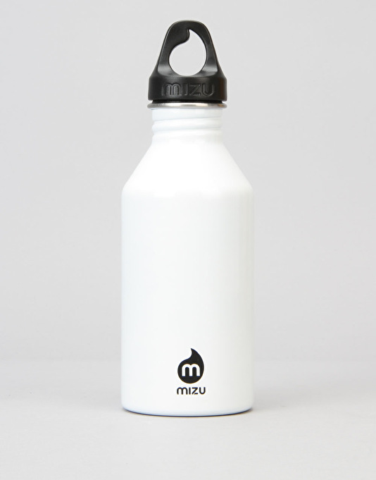 MIZU M6 Gloss 600ml/20oz Water Bottle - White/Black