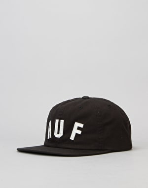 HUF Shortstop 6 Panel Cap - Black