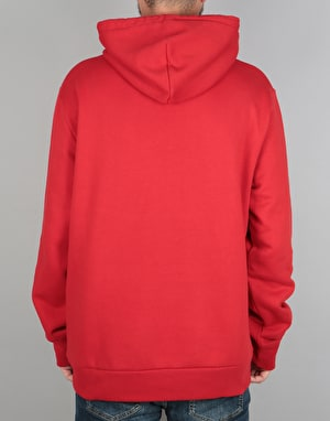 Carhartt Hooded Painted Script Sweatshirt - Rosehip/White