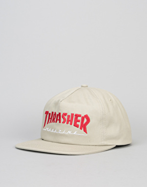 Thrasher Two-Tone Magazine Logo Cap - Tan