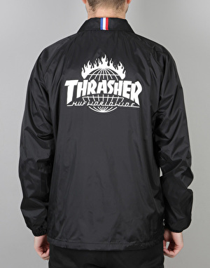 HUF x Thrasher TDS Coach Jacket - Black