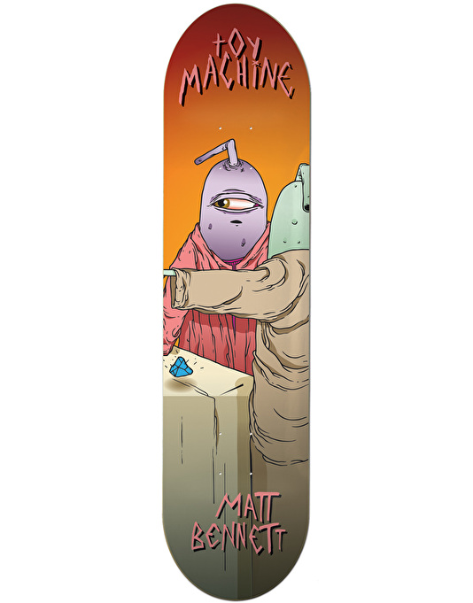 Toy Machine Bennett Last Supper Skateboard Deck - 8""