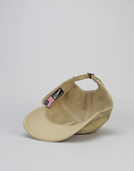 HUF Original Logo Curved Brim 6 Panel Cap - Khaki