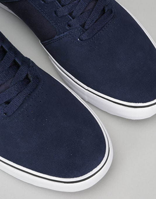 Emerica The Reynolds Low Vulc Skate Shoes - Navy/Grey/White