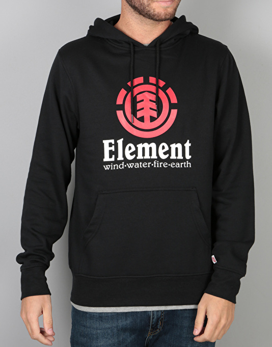 Element Vertical Pullover Hoodie - Flint Black