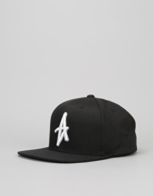 Altamont Decades Snapback Cap - Black/White