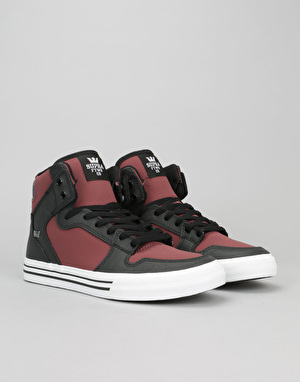 Supra Vaider Skate Shoes - Plum/Black/White