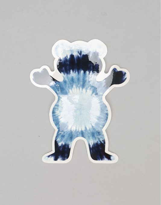Grizzly Eclipse Tie Dye Bear Sticker
