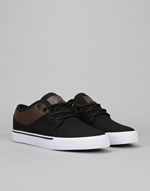 Globe Mahalo Skate Shoes - Black Twill/Brown
