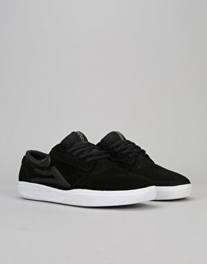 Lakai Griffin XLK Skate Shoes - Black/White Suede