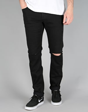 DC Destroyed Slim Fit Jeans - Black Destroy