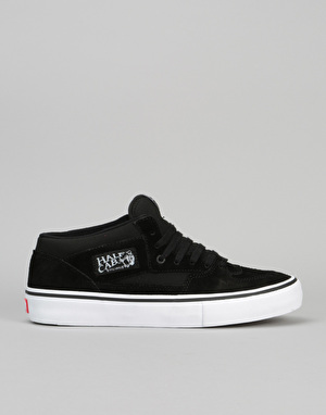 Vans Half Cab Pro Skate Shoes - Black/Black/White