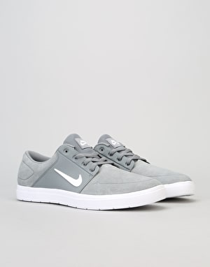 Nike SB Portmore Vapor Skate Shoes - Cool Grey/White