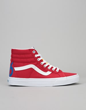 Vans Sk8-Hi Reissue Skate Shoes - (1966) Red/Blue/White