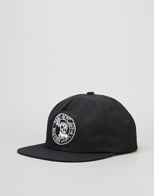 HUF x Skate NYC Address Snapback Cap - Black
