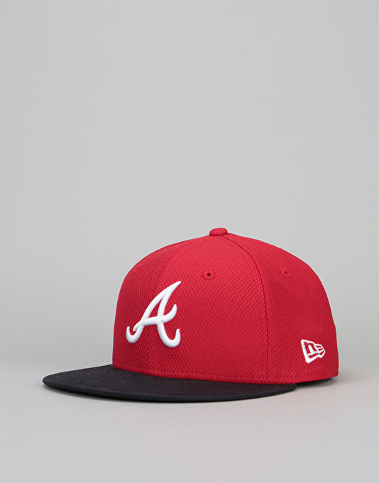 New Era 9Fifty Atlanta Braves Diamond Era Snapback Cap - Red/Blue